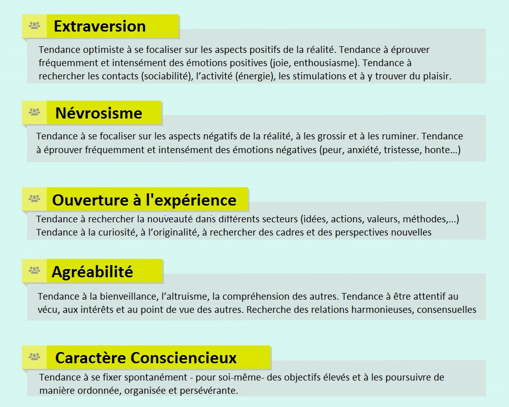 NEO-FFI-3, évaluer les 5 dimensions de la personnalité 3