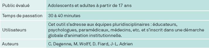 AUTISME : FORMATIONS CLINIQUES ET OUTILS D'ÉVALUATION 16