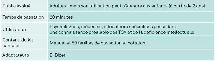 AUTISME : FORMATIONS CLINIQUES ET OUTILS D'ÉVALUATION 14