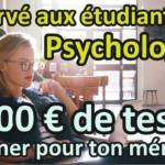 Le concours des étudiants en psychologie : 1000 € de tests à gagner ! 15
