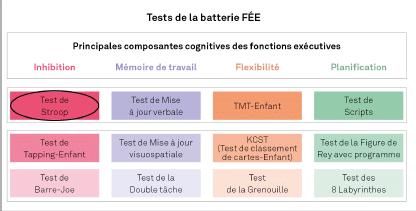 FEE, Batterie d'évaluation des Fonctions Exécutives de l'Enfant 2